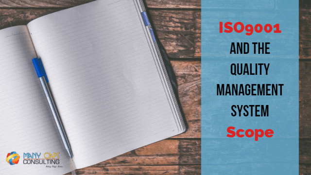 ISO9001:2015 Clause 4.3 the quality  management system scope