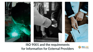 ISO 9001 and the requirements for Information for External Providers