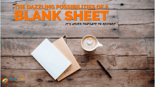 The Dazzling Possibilities of a Blank Sheet