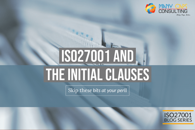 ISO27001 and the Initial Clauses