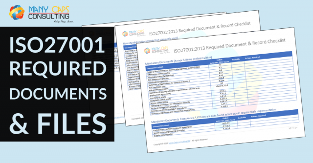 List of mandatory documents required by ISO 27001:2013